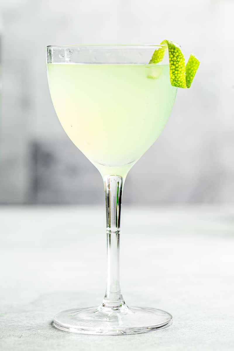 close up shot of last word cocktail